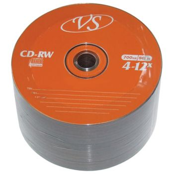 Купить Диск CD-RW VS, 700 Mb, 4-12x